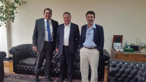 Roberto Betancourt, Blairo Maggi e Ariovaldo Zani